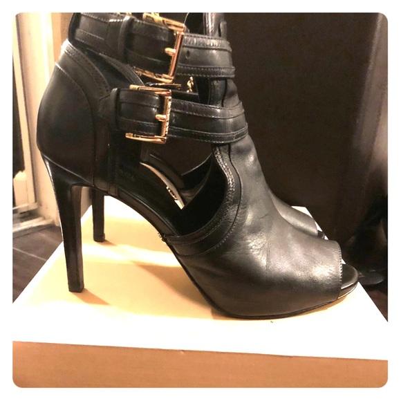 8579868899 MK Blaze Open Toe Bootie. M_5b0b778e739d48242eda1b69. Other Shoes you may  like. Michael Kors heeled booties